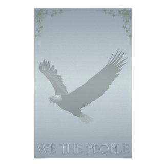 Patriotic Bald Eagle 'We The People' USA Poster