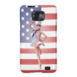 Patriotic Ballerina, USA Flag Samsung Galaxy SII Covers