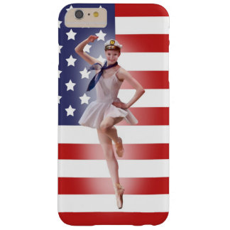 Patriotic Ballerina with American Flag Barely There iPhone 6 Plus Case