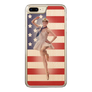 Patriotic Ballerina with American Flag Carved iPhone 8 Plus/7 Plus Case