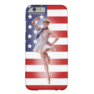 Patriotic Ballerina with American Flag Barely There iPhone 6 Case