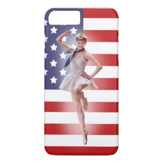 Patriotic Ballerina with American Flag iPhone 8 Plus/7 Plus Case