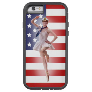 Patriotic Ballerina with American Flag Tough Xtreme iPhone 6 Case