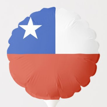 Patriotic balloon with flag of Chile