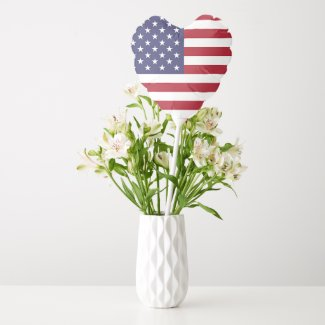 Patriotic balloon with flag of USA
