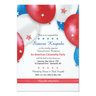 Patriotic Balloons Invitation