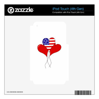 PATRIOTIC BALLOONS iPod TOUCH 4G SKINS