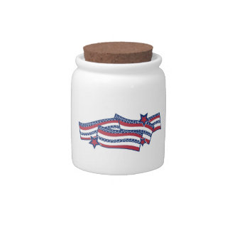 Patriotic Banner Candy Dish