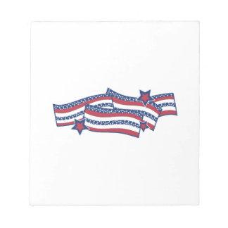 Patriotic Banner Memo Pad