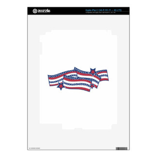 Patriotic Banner iPad 3 Decal