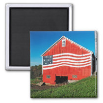 Patriotic Barn Magnet