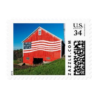 Patriotic Barn Postage