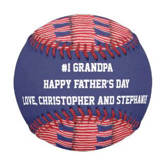 Patriotic Baseball #1 Grandpa, Father's Day, Flags