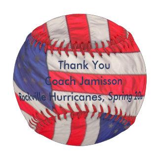 Patriotic Baseball American Flags, Thank You Coach