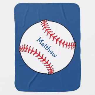 Patriotic Baseball Baby Blanket