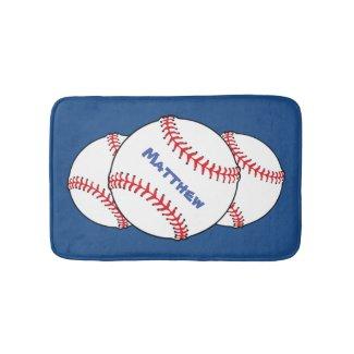 Patriotic Baseball Bath Mats