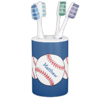 Patriotic Baseball Bathroom Set