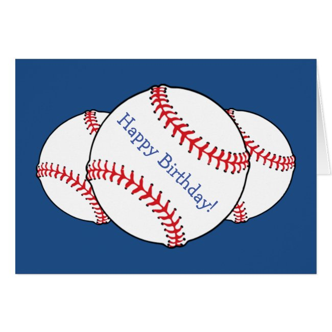 Patriotic Baseball Birthday Card