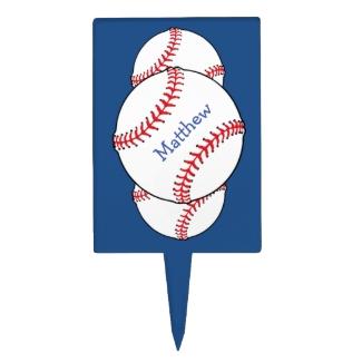 Patriotic Baseball Cake Topper