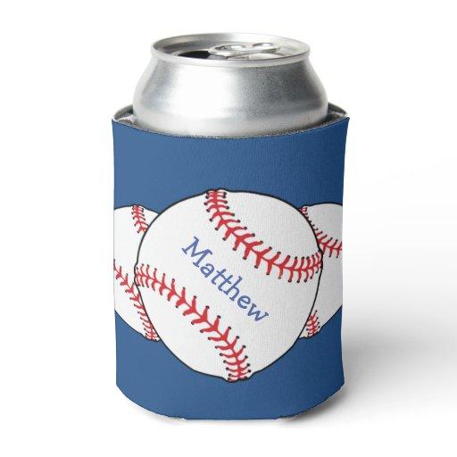 Patriotic Baseball Can Cooler