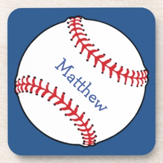Patriotic Baseball Coasters