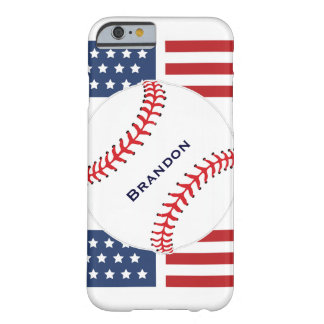 Patriotic Baseball Design iPhone 6 Plus Case