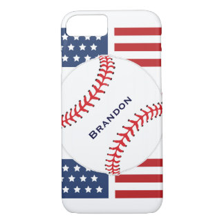 Patriotic Baseball Design iPhone 7 Plus Case