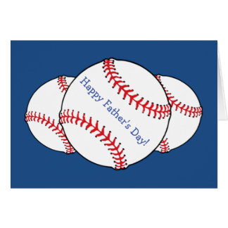 Patriotic Baseball Fathers Day Card