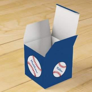 Patriotic Baseball Favor Box