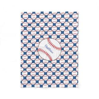 Patriotic Baseball Fleece Blanket
