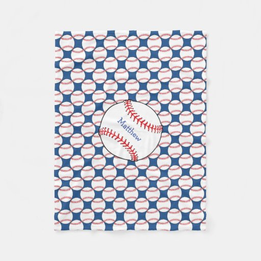Patriotic Baseball Fleece Blanket