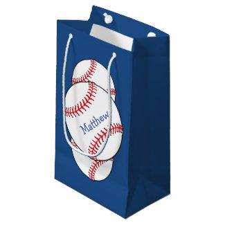 Patriotic Baseball Gift Bag