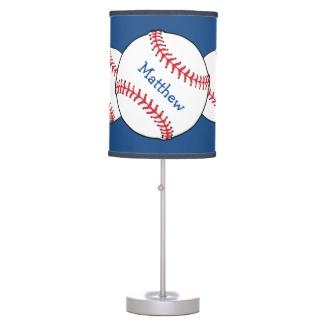 Patriotic Baseball Lamp