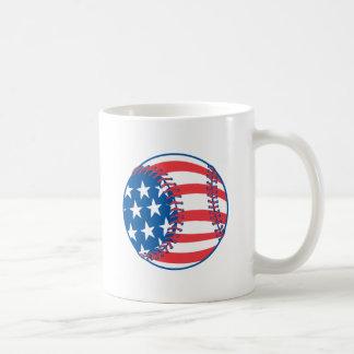Patriotic Baseball Mug