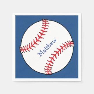 Patriotic Baseball Paper Napkin
