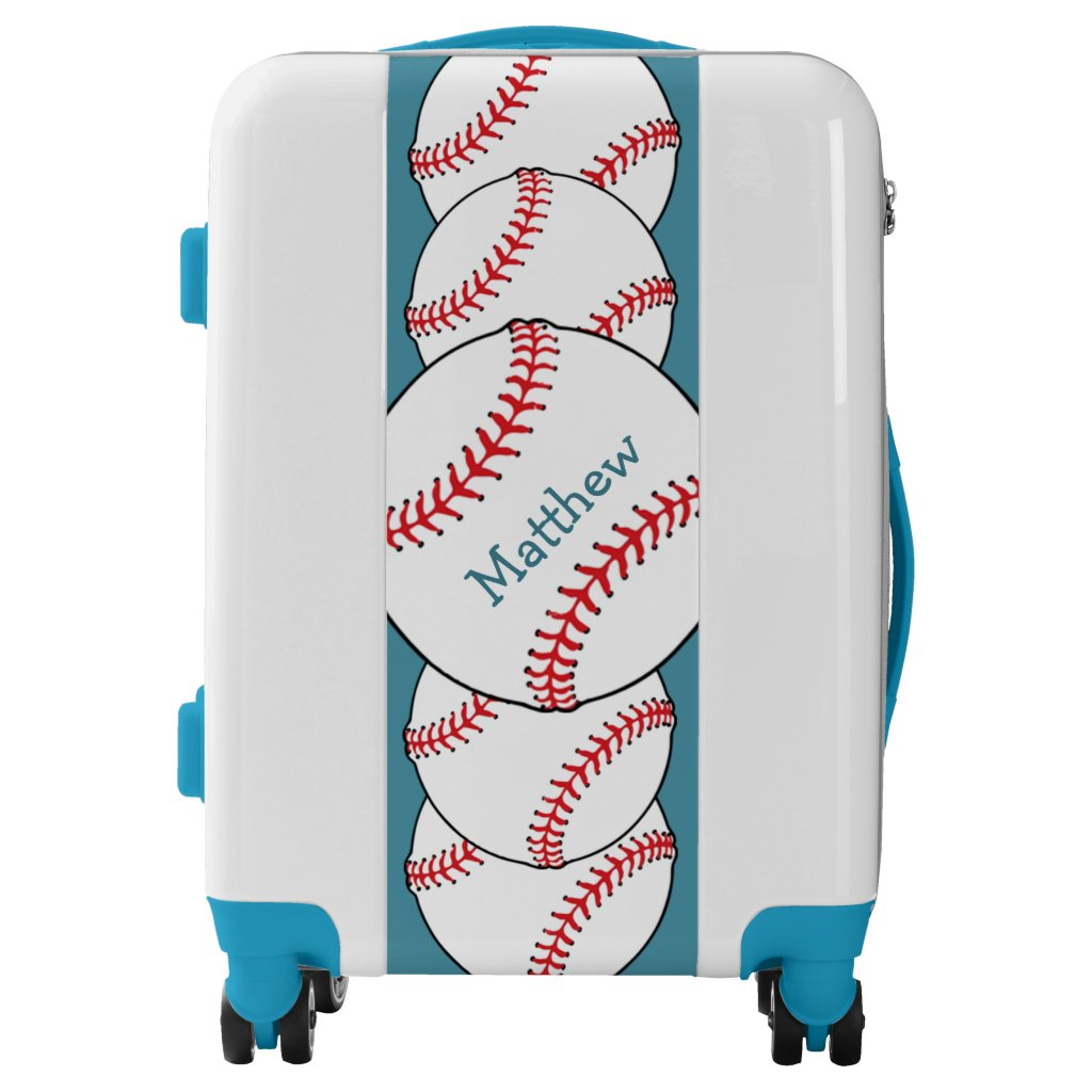 Patriotic Baseball Red White Blue Luggage