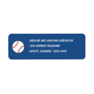 Patriotic Baseball Return Address Label