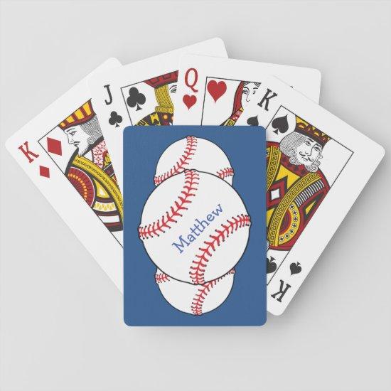 Patriotic Baseball Sports Playing Cards