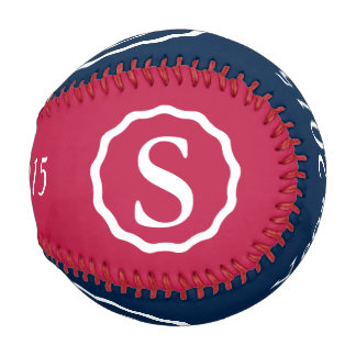 Patriotic baseball with customizable monogram
