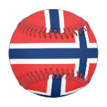 Patriotic baseball with flag of Norway