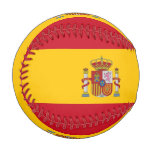 Patriotic baseball with flag of Spain