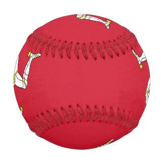 Patriotic baseball with Isle of Man flag