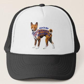 Patriotic Basenji Trucker Hat