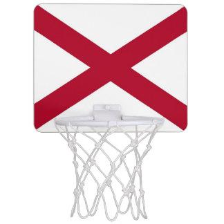 Patriotic basketball hoop with Flag of Alabama