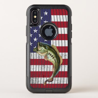 Patriotic Bass Fishing Fishermans OtterBox Commuter iPhone X Case