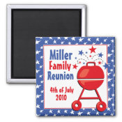 Patriotic BBQ Custom magnet
