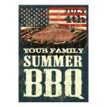 Patriotic BBQ Invitations