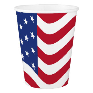 Patriotic BBQ Summer American Flag Party Cups