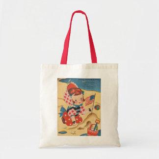 Patriotic Beach Day Tote Bag