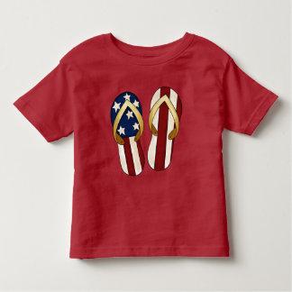 Patriotic Beach flip flops toddler t-shirt